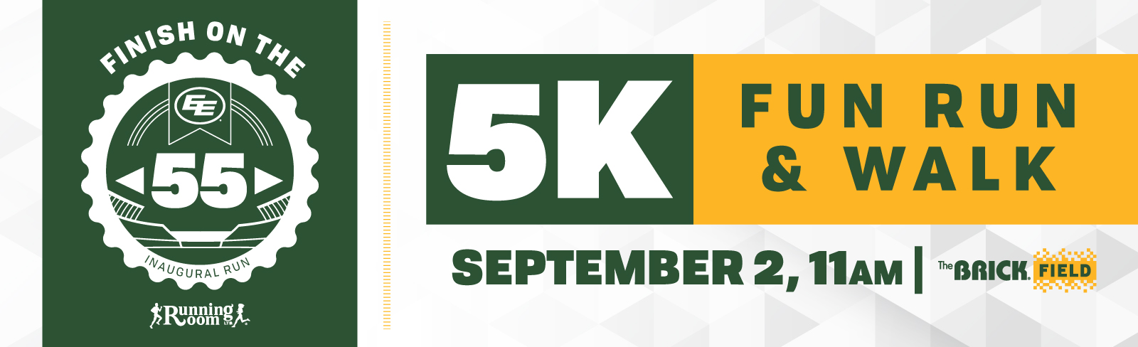 Finish at the 55 Eskimos 5K - Edmonton Eskimos