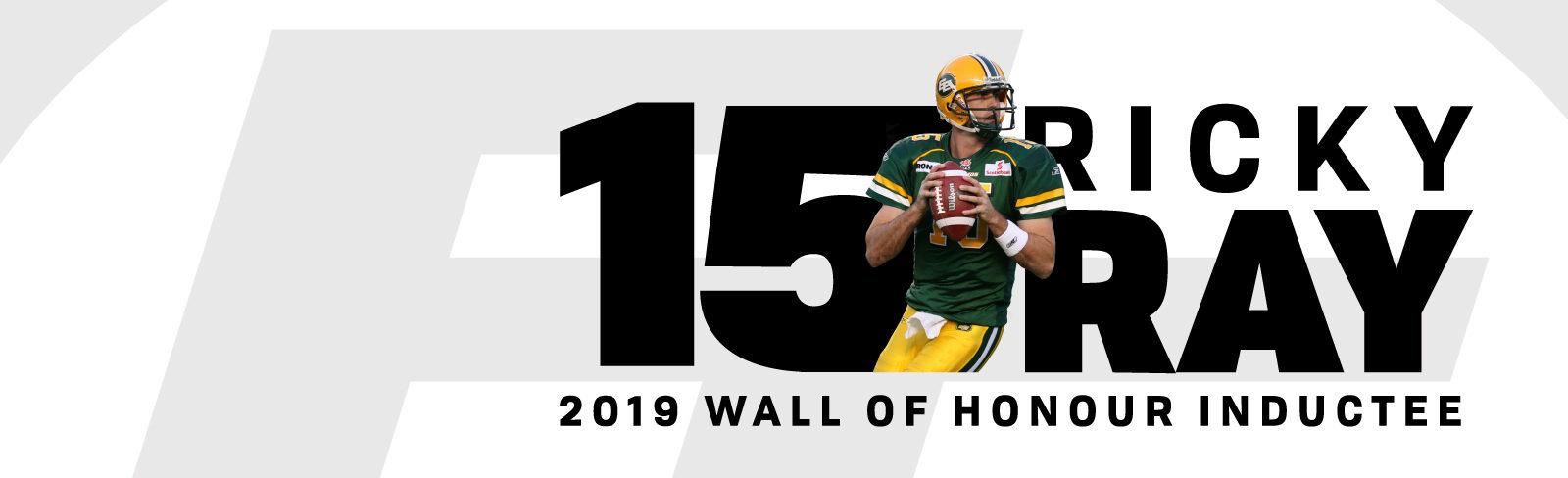 Ricky Ray Takes His Place on Eskimos Wall of Honour - Edmonton Eskimos