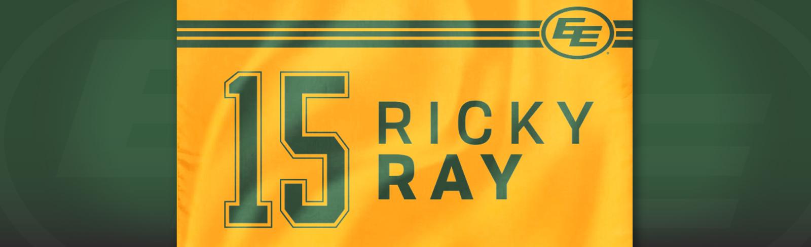 First 20,000 Fans Receive Commemorative Ricky Ray Flags Friday Night - Edmonton Eskimos