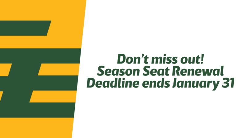2020 Season Seat Renewal Deadline
