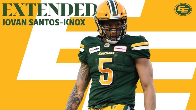 Eskimos extend LB Santos-Knox