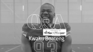 Karl Hager Q&A With DE Kwaku Boateng