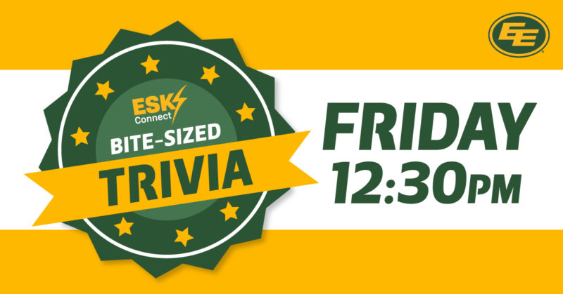 Win a signed football at 12:30 pm with esks connect bite sized trivia!