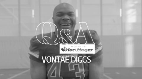 Karl Hager Q&A With Vontae Diggs