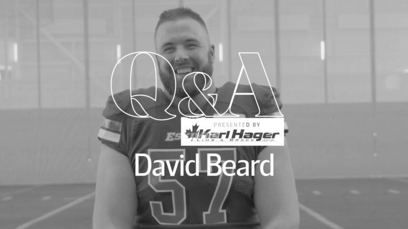 Karl Hager Q&A With OL David Beard