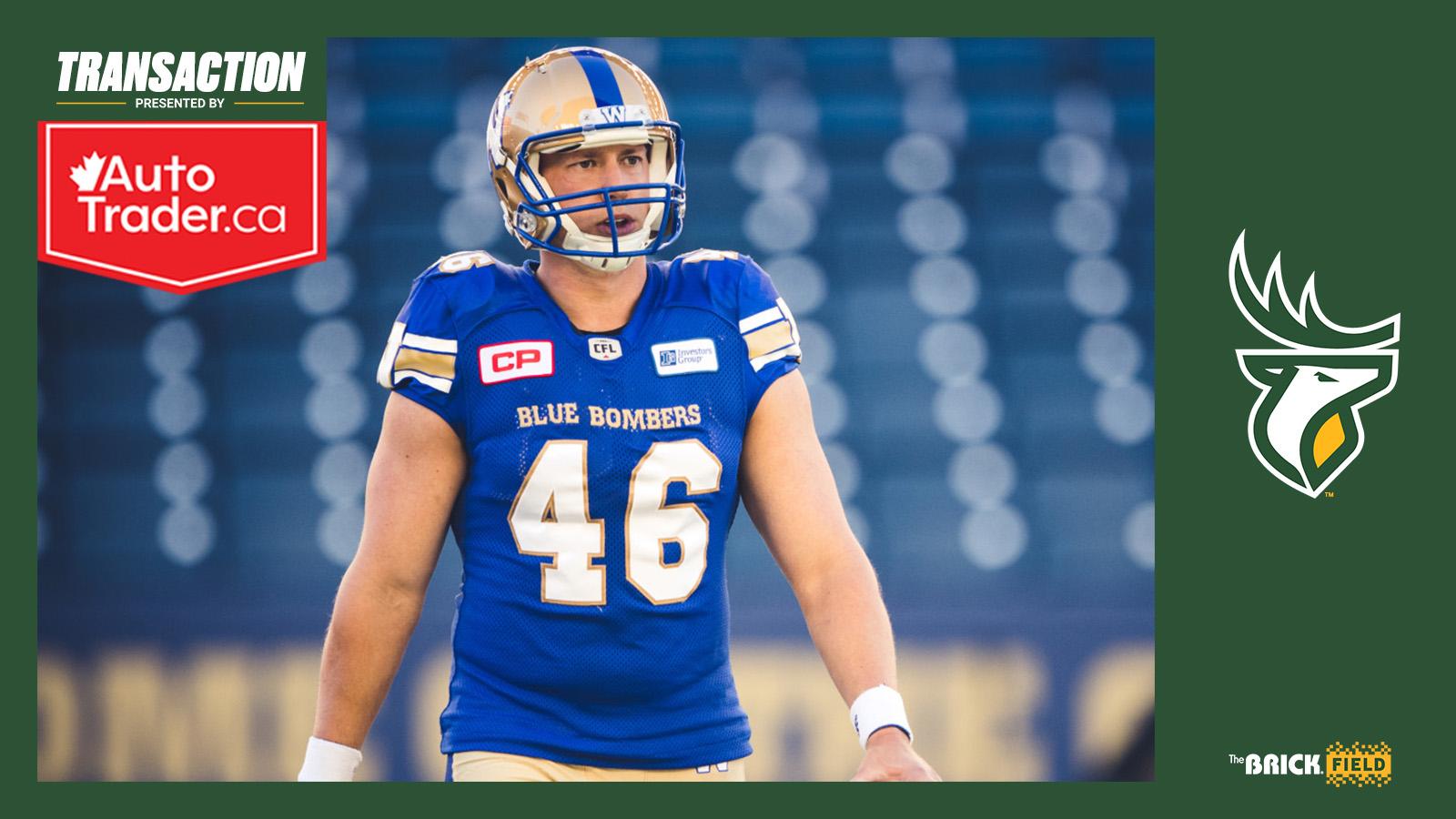 Edmonton Elks sign veteran long snapper Chad Rempel, release Greenberg