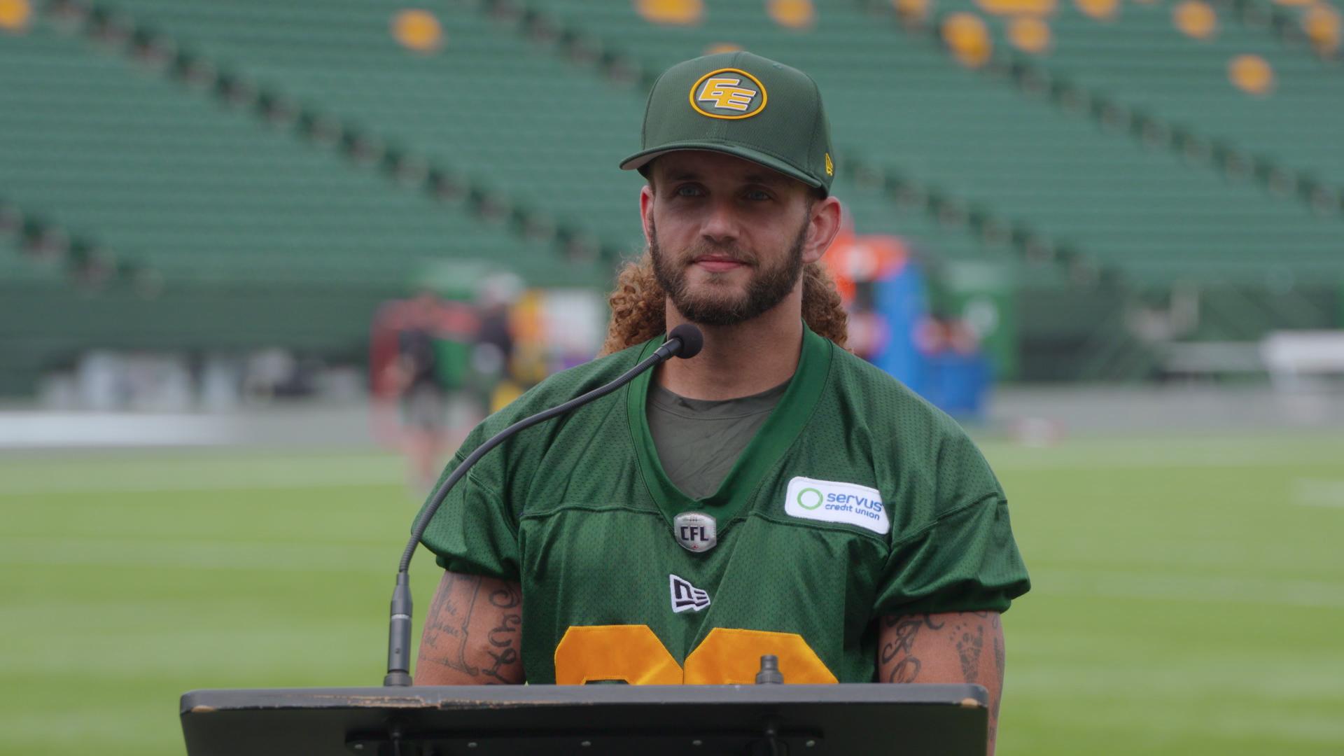 Post Practice: DB Aaron Grymes