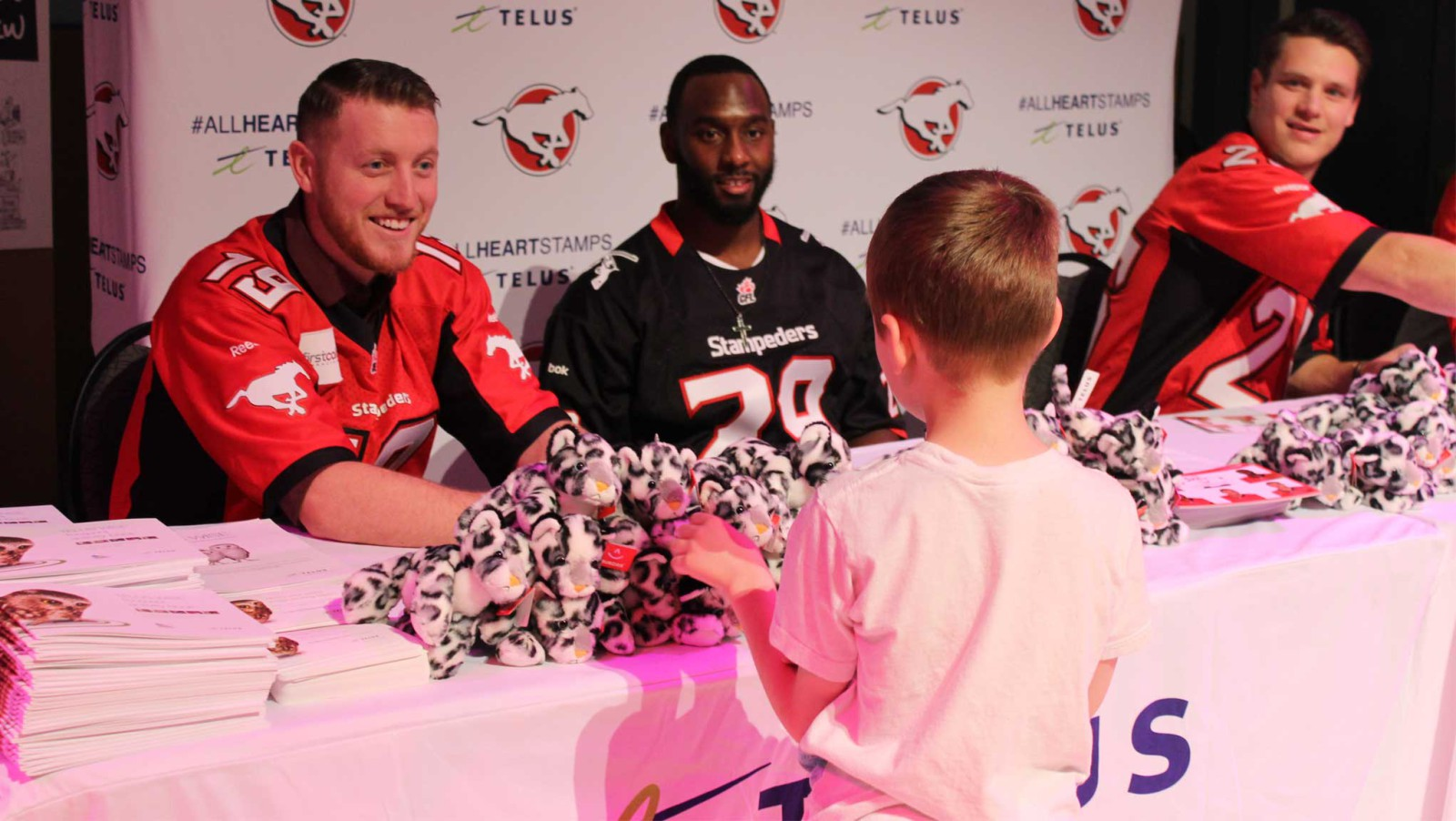 Stamps Team Up With TELUS For Stamp Of A Champ