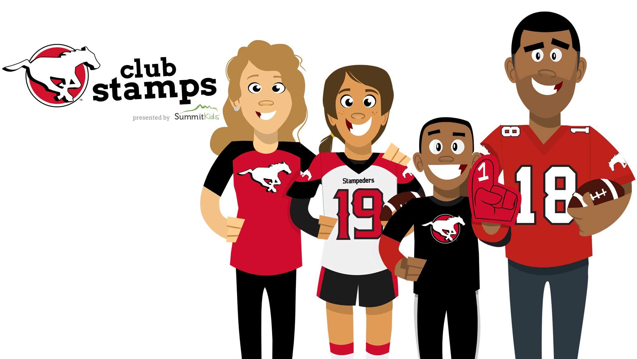 Club Stamps - Calgary Stampeders