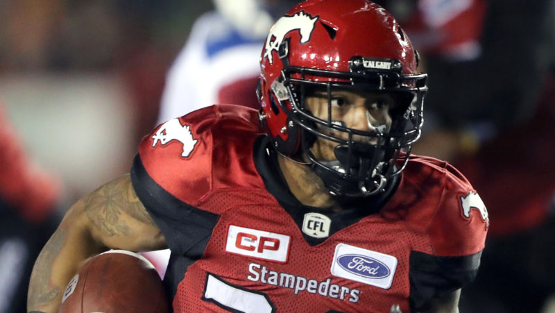 Singleton Named Cfl Player Of The Month Calgary Stampeders