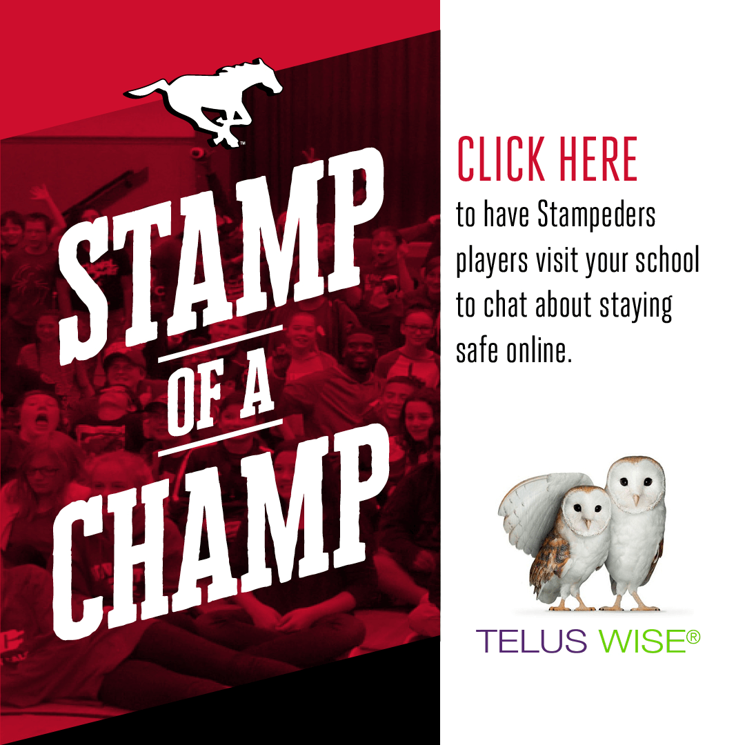 Telus Stamp Of A Champ Calgary Stampeders