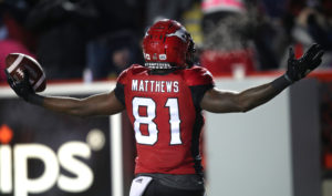 Calgary, AB - October 13, 2018: The Calgary Stampeders take on the B.C. Lions at McMahon Stadium Saturday evening. Photo by David Moll / Calgary Stampeders.