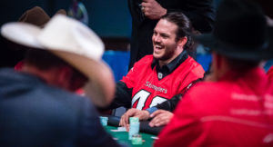 CALGARY, AB - OCTOBER 29, 2018: The Calgary Stampeders Ambassadors host their annual charity poker tournament at the Grey Eagle Casino on Monday night. (Photo by Angela Burger/Calgary Stampeders)