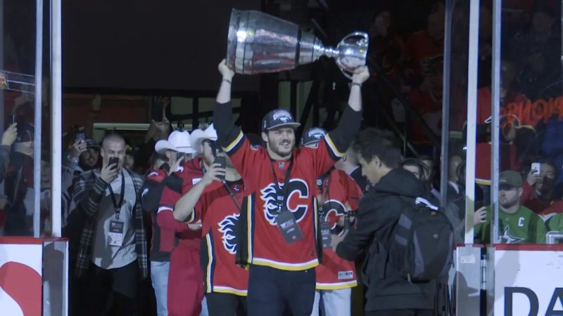 Stamps Honoured at Flames Game
