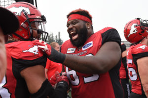 CALGARY, AB - AUGUST 25, 2018: The Calgary Stampeders win 39-26 against the Winnipeg Blue Bombers at McMahon Stadium on Saturday afternoon. (Photo by Candice Ward/Calgary Stampeders)