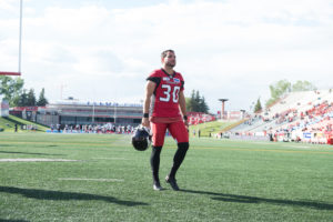 CALGARY, AB - JUNE 28, 2018: The Calgary Stampeders won 24-14 against the Ottawa REDBLACKS at McMahon Stadium on Thursday. (Photo by Candice Ward/Calgary Stampeders)