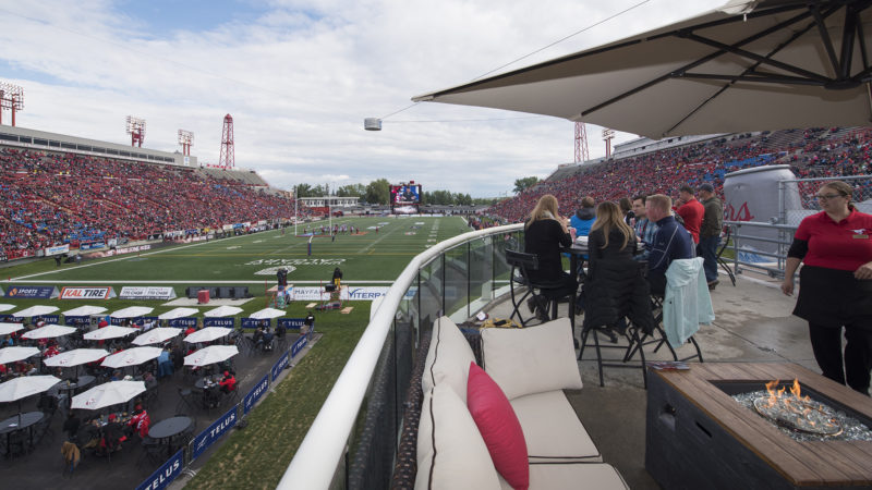 CALGARY, AB - JUNE 16, 2018: The Calgary Stampeders won 28-14 against the Hamilton Tiger-Cats at McMahon Stadium on Saturday's Home Opener. (Photo by Mark Shannon/Calgary Stampeders)