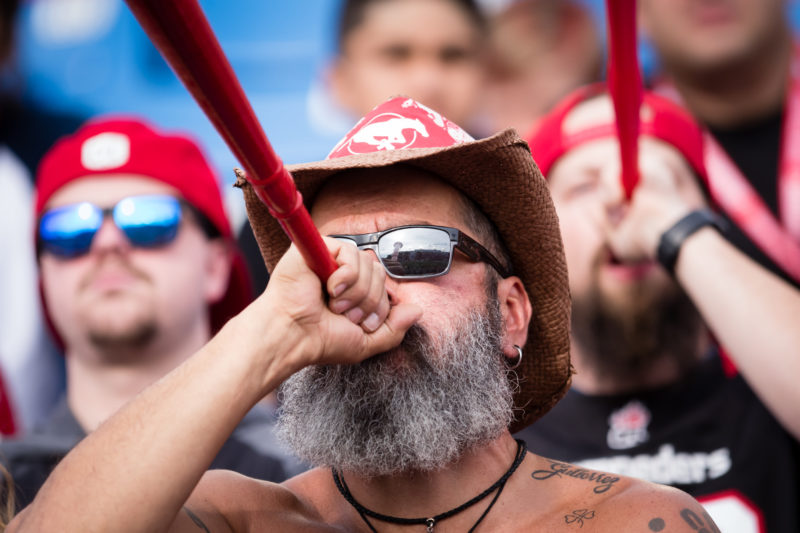 CALGARY, AB - AUGUST 17, 2019: The Calgary Stampeders lost 34-40 against the Montreal Alouettes at McMahon Stadium on Saturday night (Angela Burger/Calgary Stampeders).
