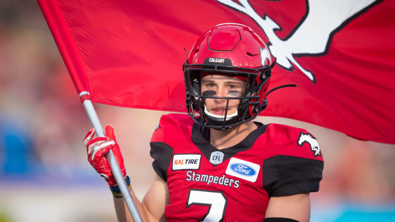 CALGARY, AB - MAY 31, 2019: The Calgary Stampeders won 37-1 against the Saskatchewan Roughriders at McMahon Stadium on Friday night's preseason game. (Angela Burger/Calgary Stampeders)