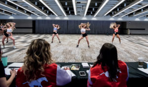 CALGARY, AB - FEBRUARY 23, 2020: Calgary Stampeders Outriders Auditions at the Red & White Club on Sunday afternoon. (Photo by Angela Burger/Calgary Stampeders)