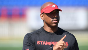 CALGARY, AB - MAY 20, 2018: The Calgary Stampeders 2018 Training Camp at McMahon on Sunday. (Photo by Candice Ward/Calgary Stampeders)
