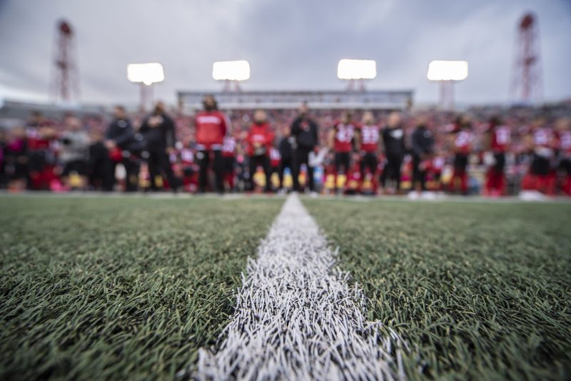 CALGARY, AB - OCTOBER 19, 2019: The Calgary Stampeders won 37-33 against the Winnipeg Blue Bombers at McMahon Stadium on Saturday. (Photo by Mark Shannon/Calgary Stampeders)