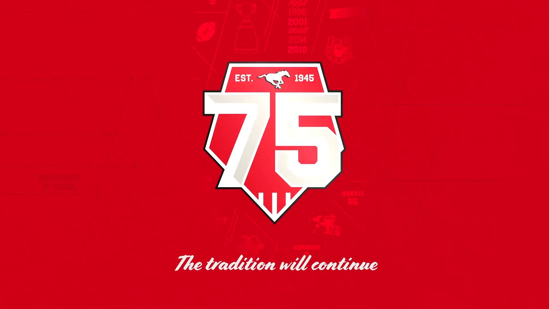 Stamps 75th Jersey - The Tradition Will Continue!