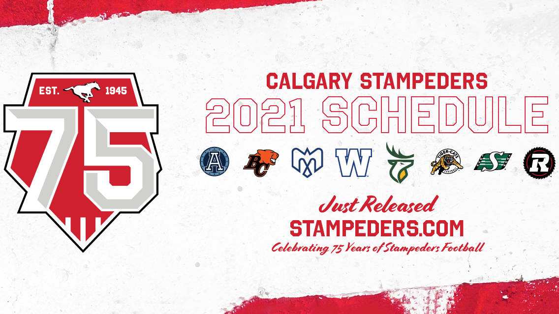 Calgary Stampeders Announce 2021 Schedule