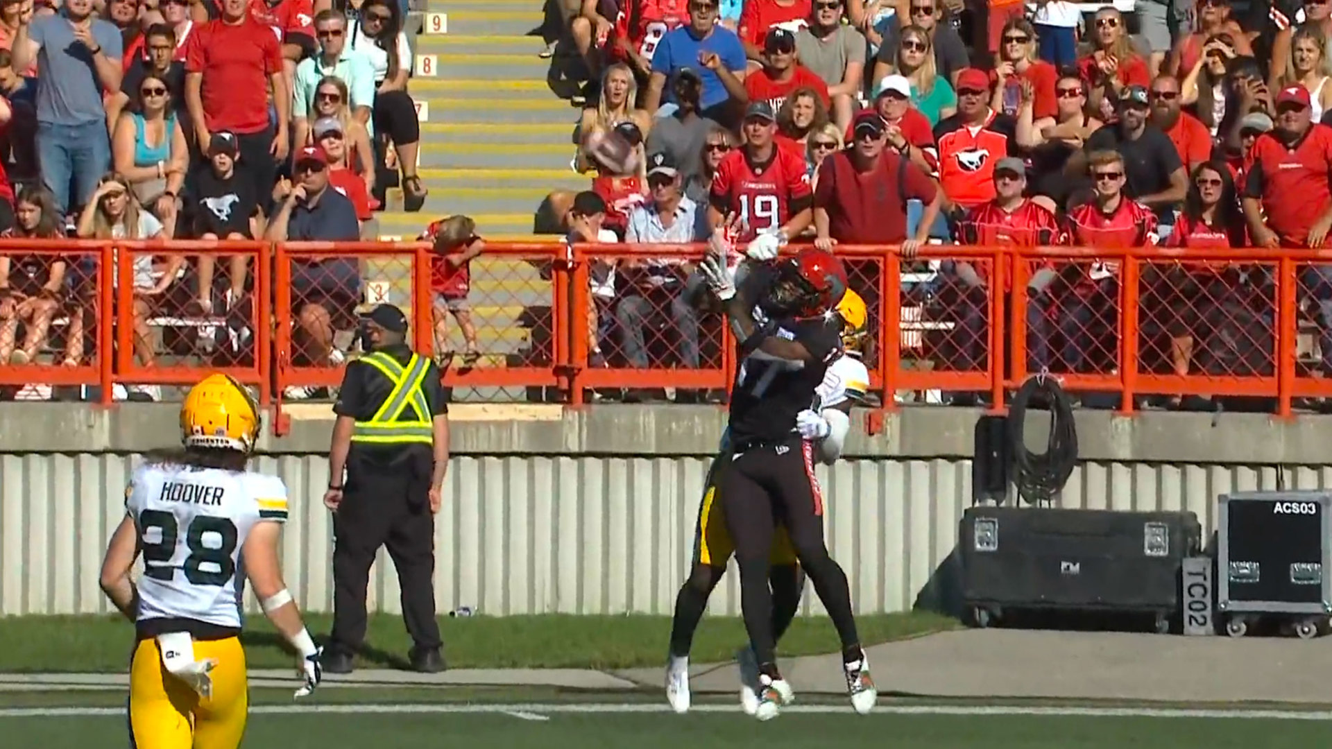 Ambles' first TD of the season puts Stamps in front