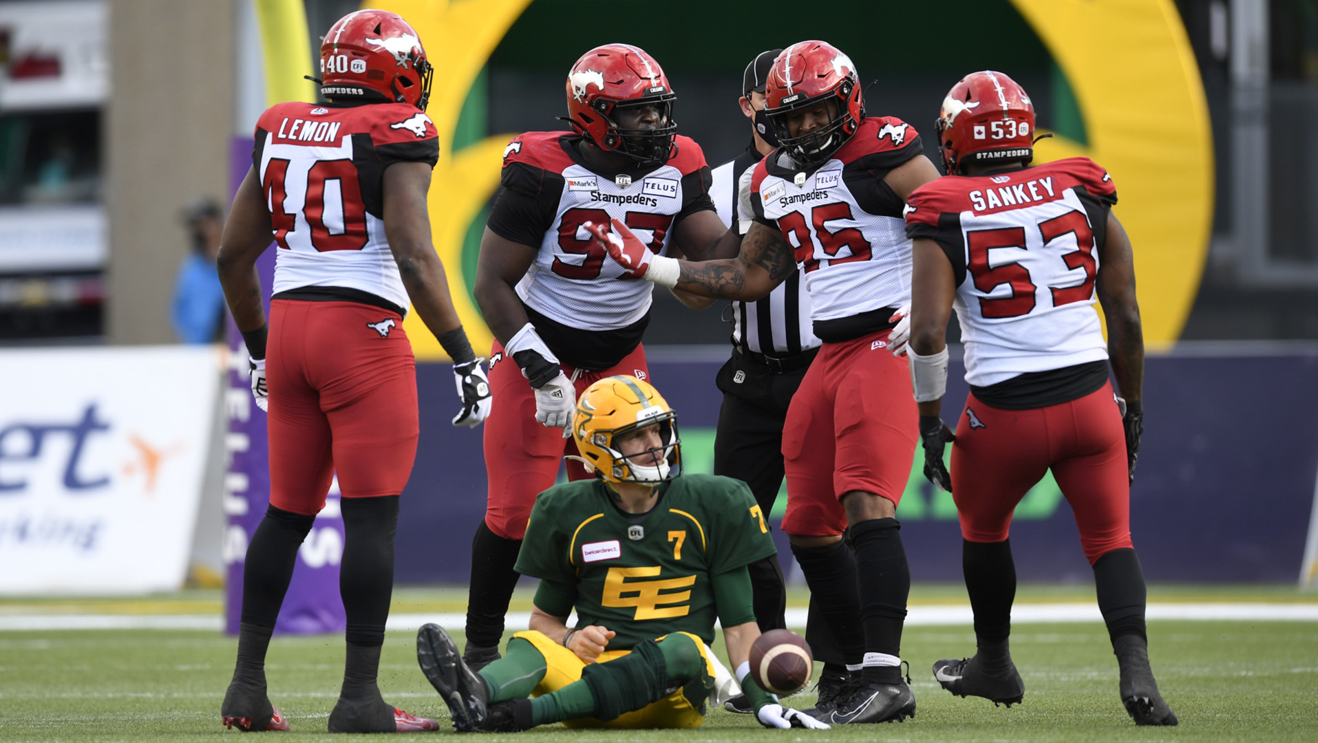 Stamps D Sacks Harris 7 Times In Victory
