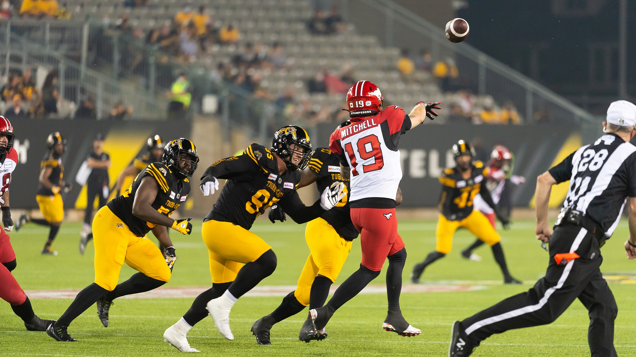 Stamps Fall In Hamilton