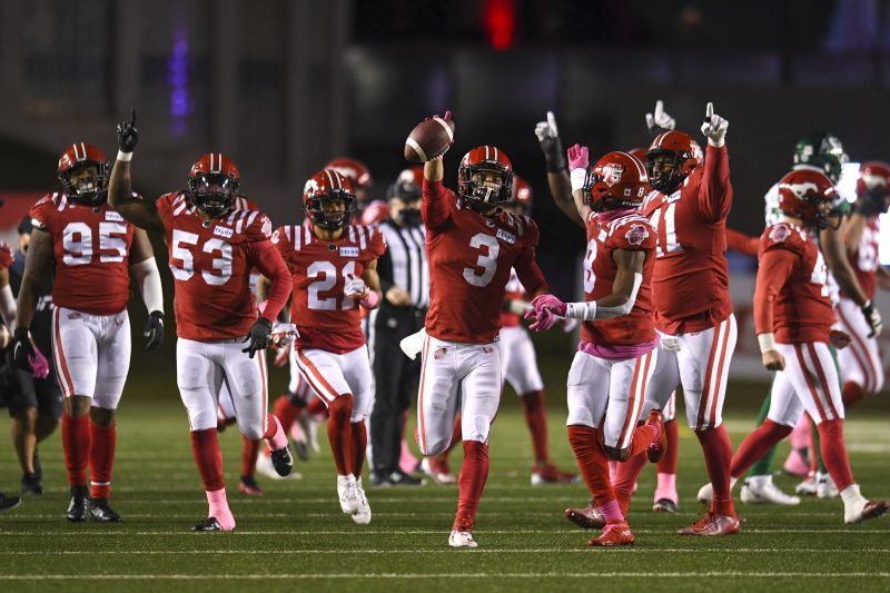 CALGARY, AB - OCTOBER 23, 2021: The Calgary Stampeders against the Saskatchewan Roughriders at McMahon Stadium on Saturday.  (Photo by Candice Ward/Calgary Stampeders)
