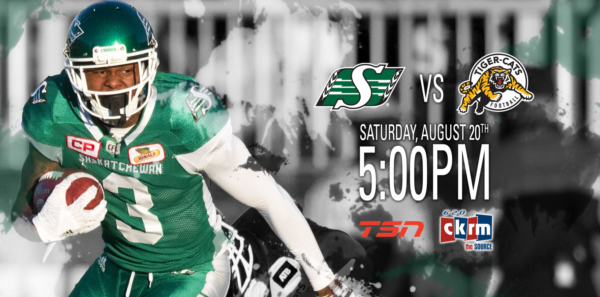 5e51eb523 Game Day Preview- Riders at Tiger-Cats - Saskatchewan Roughriders