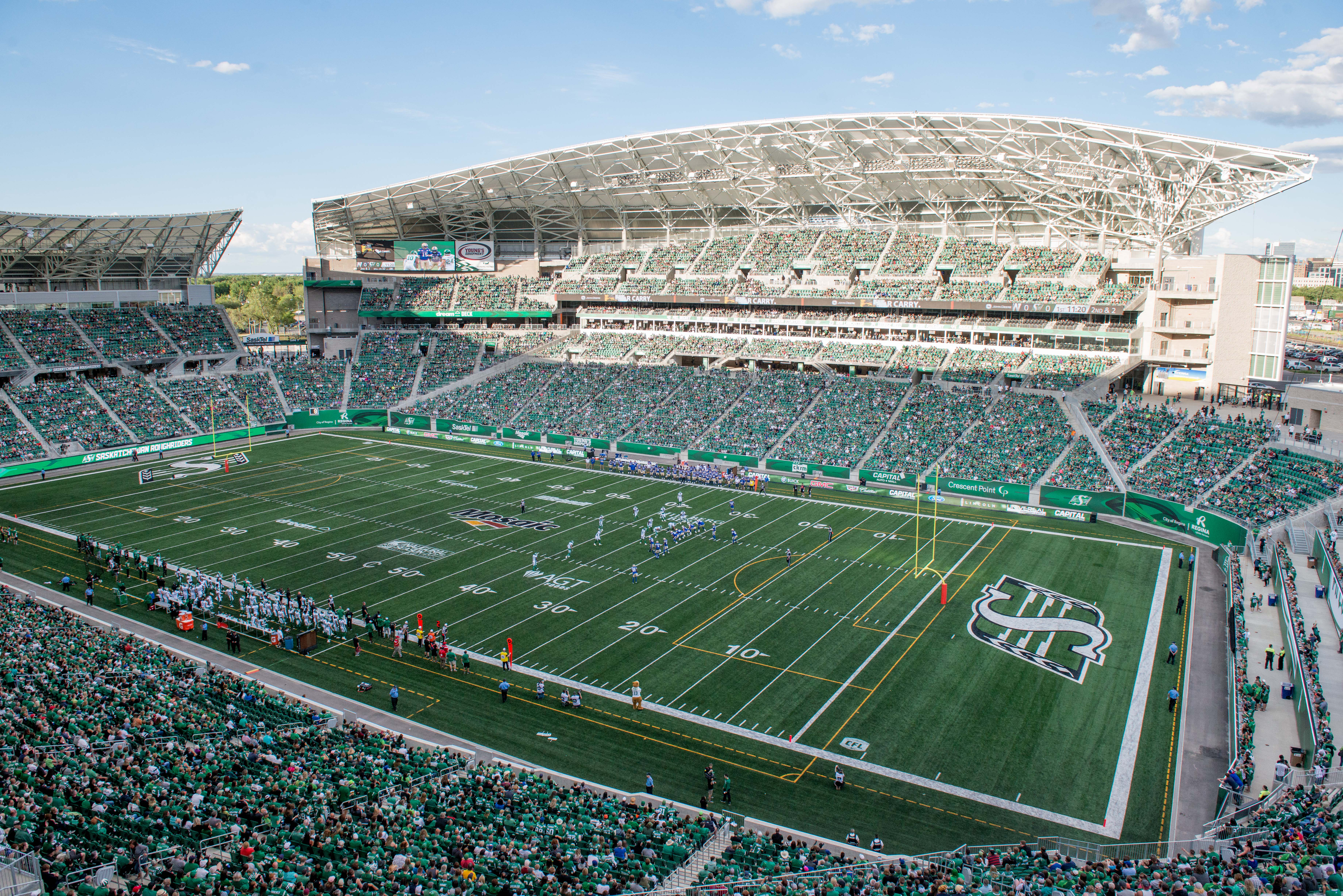 The Riders face the Bombers in the grand opening of Mosaic ...
