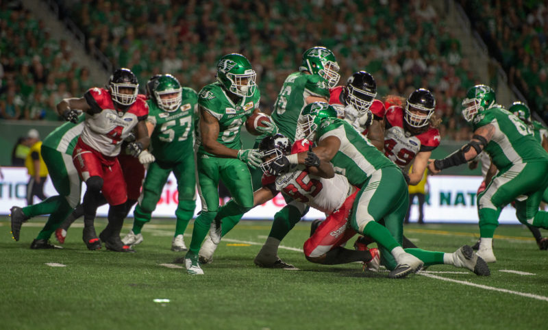 The Roughriders take on the Stampeders