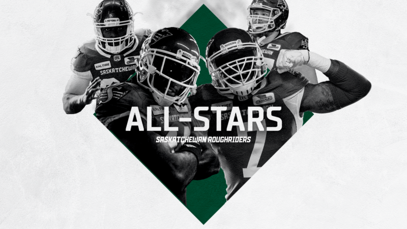 FOUR RIDERS NAMED CFL ALL-STARS