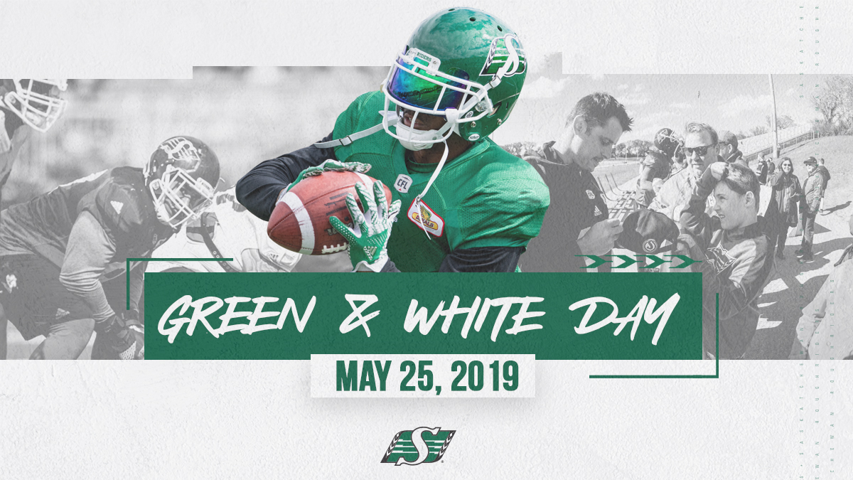 Green and White Day: May 25th - Saskatchewan Roughriders