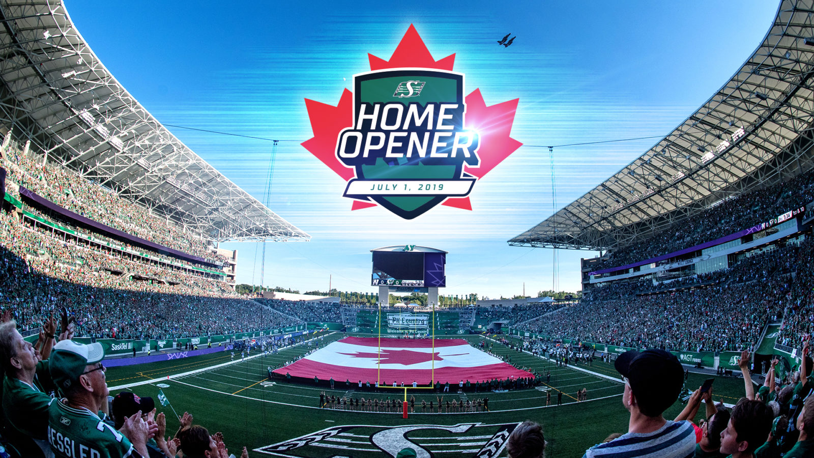Image result for mosaic stadium canada flag