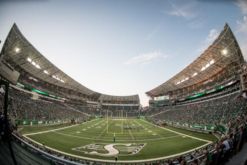 The Saskatchewan Roughriders take on the Toronto Argonauts in CFL action on June 15th, 2018 at Mosaic Stadium in Regina, SK.  Derek Mortensen/Electric Umbrella