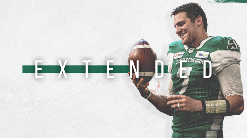 RIDERS STARTING QB CODY FAJARDO SIGNS CONTRACT EXTENSION