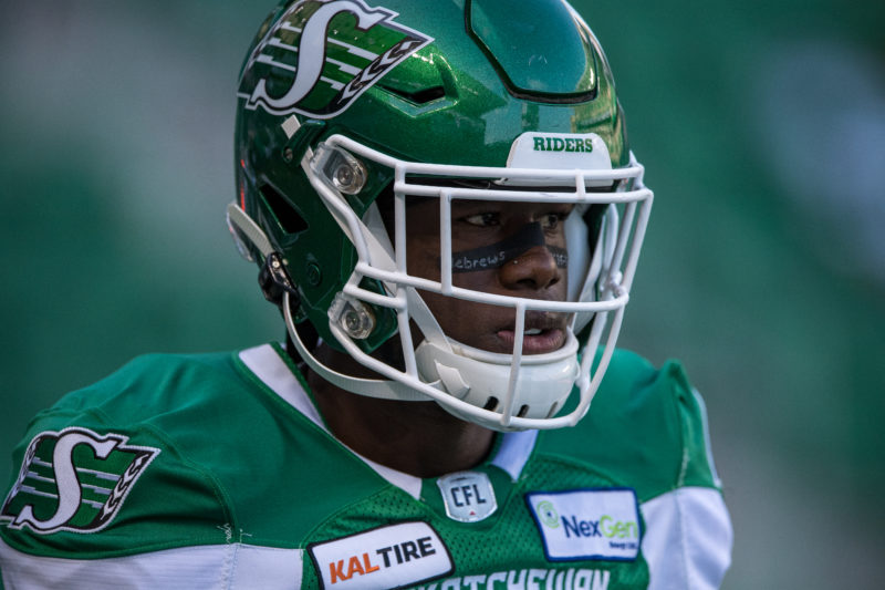 The Saskatchewan Roughriders take on the Calgary Stampeders in CFL action on July 6th, 2019 at Mosaic Stadium in Regina, SK...Liam Richards/Electric Umbrella The Saskatchewan Roughriders take on the Calgary Stampeders in CFL action on July 6th, 2019 at Mosaic Stadium in Regina, SK.  Liam Richards/Electric Umbrella