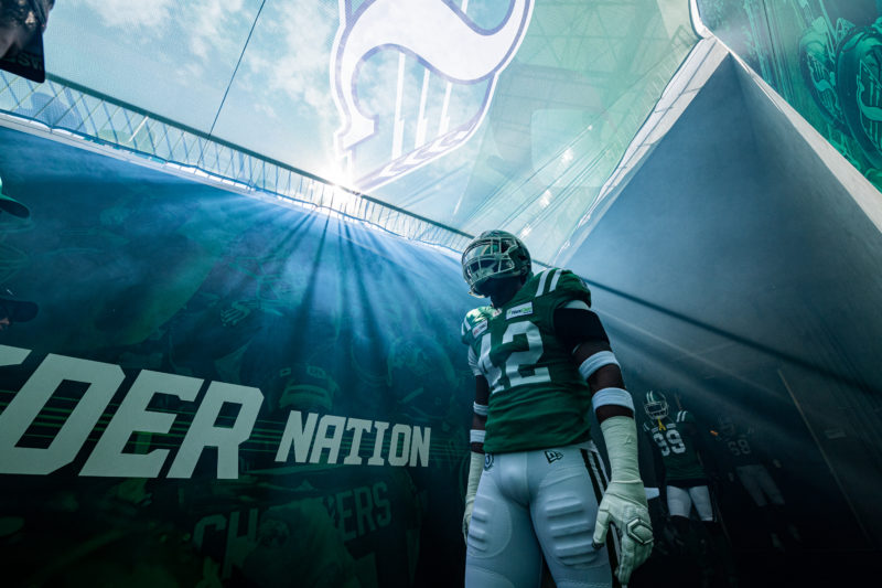 The Saskatchewan Roughriders take on the Winnipeg Blue Bombers in CFL action on September 1st 10th, 2019 at Mosaic Stadium in Regina, SK...Liam Richards/Electric Umbrella The Saskatchewan Roughriders take on the Winnipeg Blue Bombers in CFL action on September 1st 10th, 2019 at Mosaic Stadium in Regina, SK.  Liam Richards/Electric Umbrella