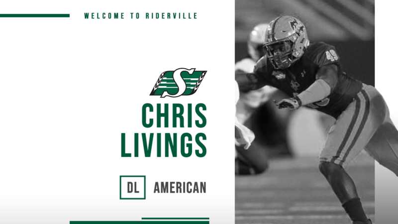 Riders Sign DL, Chris Livings