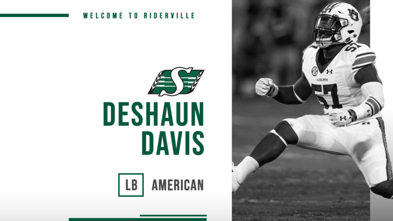 Riders Sign LB, Deshaun Davis
