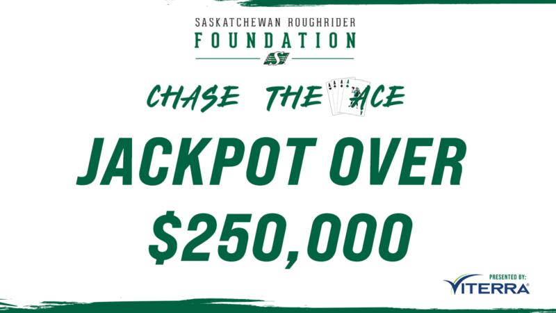 Saskatchewan Roughrider Foundation Chase the Ace jackpot hits $250,000