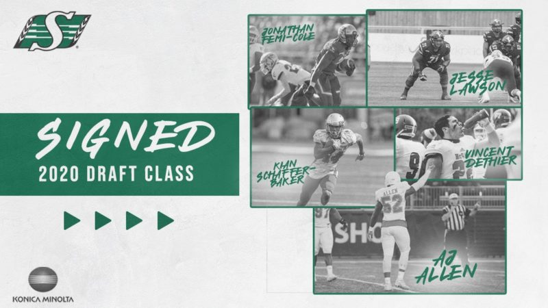 Riders SignMembers Of2020CFL Draft Class