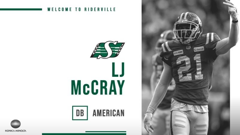 Defensive Back L.j. Mccray Stays In Riderville