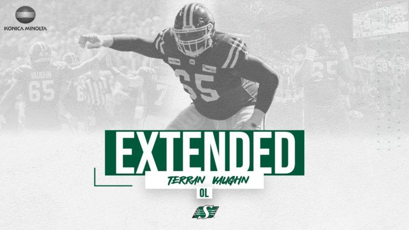 Riders Extend Offensive Lineman Terran Vaughn