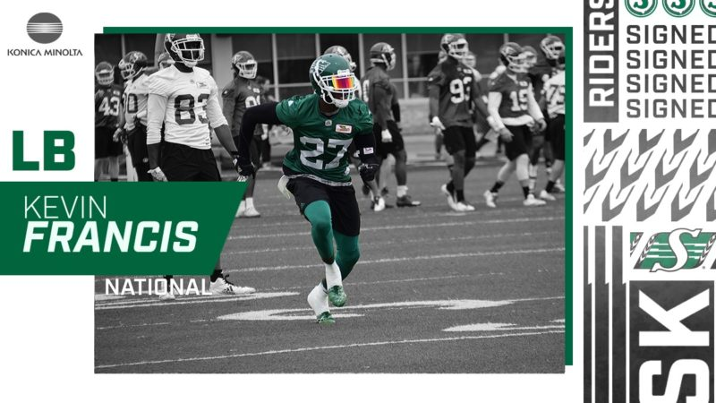Linebacker Kevin Francis Returns To The Riders