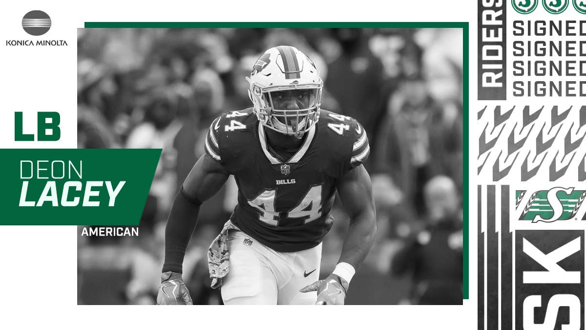 Riders Sign Linebacker Deon Lacey